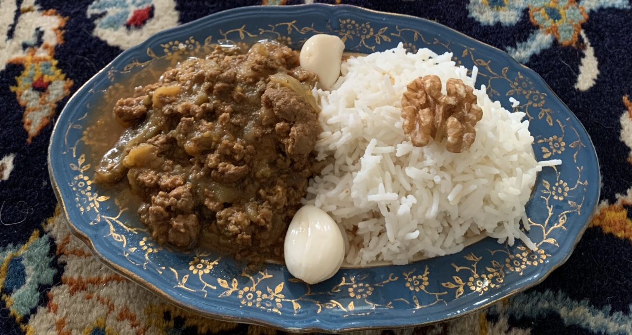 Khoresh Bademjan: Eggplant and minced meat stew