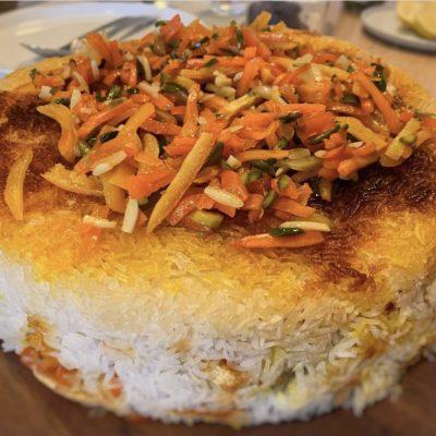 Shirin Polo : Orangenpersischer Reis